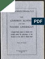 W.E.B. Du Bois--The Common School and the Negro American (1911)