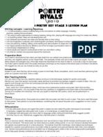 KS3 Spoken Word Lesson Plan