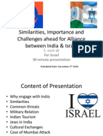 India Israel Friendship PPT by Satyadhar