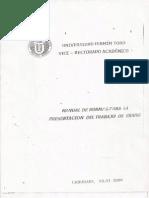 Manual de Normas para Presentación de Trabajo de Grado