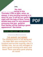 Cheadle Jazz Guitar Society Newsletter 2012