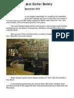 Huddersfield Jazz Guitar Society September 2012 Newsletter