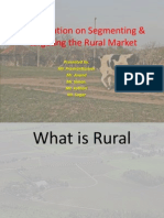 Presentation on Segmenting & Targeting the Rural Market
