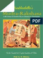 Mudra Rakshasa-Sanskrit Play on Chanakya With English Translation