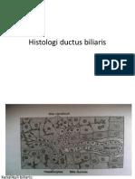 Histologi ductus biliaris
