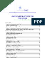 """ARISTOTE - De l'Âme (""""De Anima"""")"""