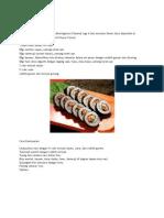 Cara Membuat Kimbab Korea
