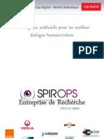 SpirOps - Intelligence artificielle pour un meilleur dialogue humain/robots
