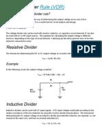 Voltage Divider Rule