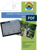 2007 - Documento Diseño y Negociacion de Proyects