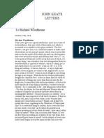 Keats Letters
