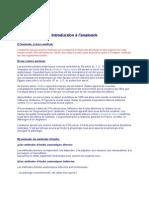 Anatomie introduction à l'anatomie 1.Introduction à l'anatomie