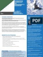 IT Risk Management & Leadership 14 - 17 April 2013 Dubai