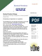 Katoland November 2012 Newsletter
