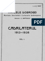Analele Dobrogei Anul XIX Vol I Cadrilaterul 1913 1938 Vol I
