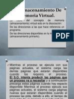 3.4Almacenamiento De Memoria Virtual.