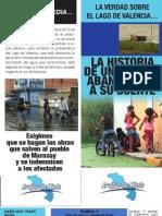 Folleto sobre la problematica en el Lago de Valencia