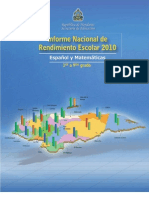 Educacion Informe Nacional de 2010 (Español)