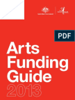 Australia Council Arts Funding Guide 2013