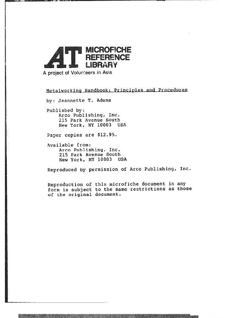 Metalworking Handbook Principles And Procedures 1976 Ductility 220 Volt Welder Plug Likewise 50 Besides Wiring Diagram Deformation Engineering