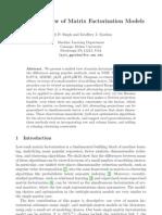 A Unified View of Matrix Factorization