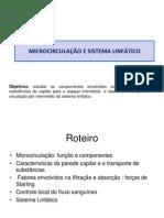 AULA MICROCIRCULAÇÃO  e Sistema Linfático