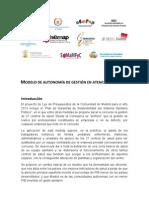 Comunicado Modelo Autonomía de Gestión en AP