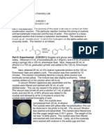 Aldol Condensation Lab