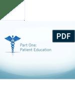 part one-patient education