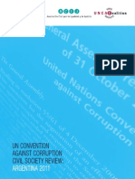 UN CONVENTION AGAINST CORRUPTION CIVIL SOCIETY REVIEW