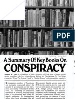 Robert W. Lee, A Summary Of Key Books On Conspiracy, (Nov-1981)