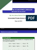 Sistemas de Ecuaciones Lineales-metodos Numericos