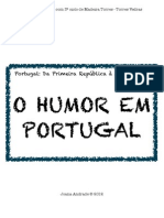 HISTÓRIA DO HUMOR EM PORTUGAL