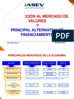 INTRODUCCIÓN AL MERCADO DE VALORES Y PRINCIPAL ALTERNATIVA DE FINANCIAMIENTO