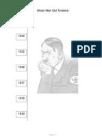 Hitler Timeline Worksheet