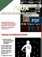 Tinyvox Bedienungsanleitung - Deutsch