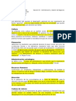Definiciones Adminsitracion de Negocios
