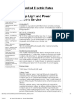 Large Light and Power Electric Service