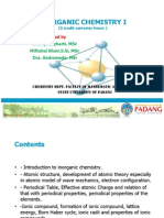 Inorganic Chemistry 1
