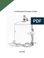 Petunjuk Teknis (Juknis) Pembangunan Penampung Air Hujan (PAH)
