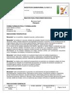 Preescripción Corta Diazepam Quibiofarma