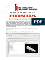 Solidedge F1 in Schools Tutorial