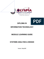 Systems Analysis & Design ML GUIDE