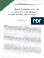Propuesta Heuristica Hacia Un Modelo Teorico de La Reduccion de Daños