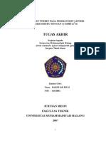 Redesain Turbin Pada Pembangkit Listrik Mikrohidro Dengan q 00086 m3 Per Dt