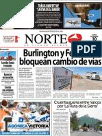 Periodico Norte de Ciudad Juárez 10 de Diciembre de 2012