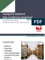 Actualizacion Sobre Analgesia Epidural