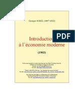 Sorel, Georges - Introduction a l'Economie Moderne [1903]