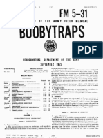 United States Army Fm 5-31-14 September 1965 Booby Traps