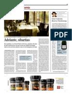 Artículo El Mundo 08/12/2012 - Restaurante Els Capellans, Elche (Alicante), Spain